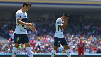 Pumas lamenta empate contra Necaxa en la J13 del C2018