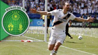Zlatan Ibrahimovic festeja un gol con LA Galaxy