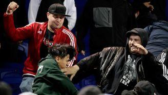 Aficionados de Chivas y New York se enfrentan a golpes