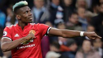 Pogba celebra tras marcar un gol contra el Manchester City