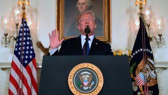 Donald Trump da un anuncio en la Casa Blanca