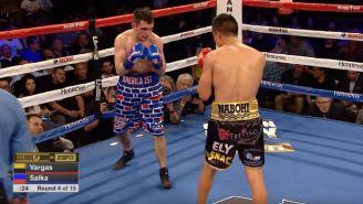 Rod Salka y Francisco Vargas durante un enfrentamiento