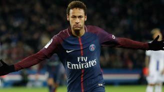 Neymar durante un partido con el PSG