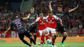 Momentos del juego entre el Mainz 05 y Friburgo