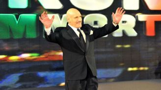 Bruno Sammartino después de ser inducido al Hall of Fame