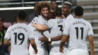 Manchester United celebra victoria frente al Bournemouth