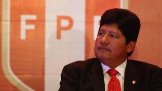 Edwin Oviedo, presidente de la Federación Peruana de Futbol