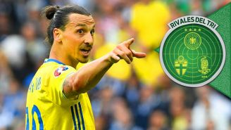 Zlatan Ibrahimovic en un partido con Suecia