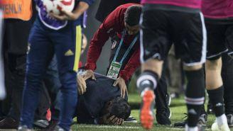 El técnico del Besiktas después de ser herido