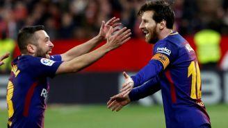 Barcelona festeja gol de Lionel Messi