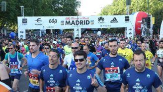 Así lució el inicio del Maratón de Madrid el año pasado
