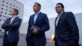 Moisés Muñoz y Alvaro Ortíz, en la reunión de la AMF y la Liga