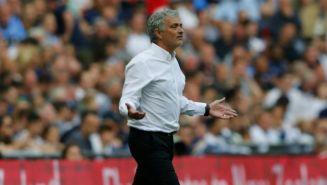 Mourinho, en el juego contra Tottenham en la Semifinal de la FA Cup