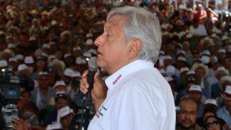 Andrés Manuel López Obrador, en un mitín político