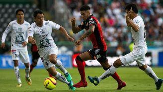 Acciones del juego entre León y Tijuana de la J16 del C2018