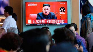 Kim Jong Un en una transmisión de TV