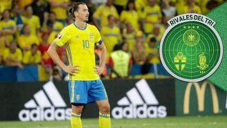 Zlatan en un partido con Suecia