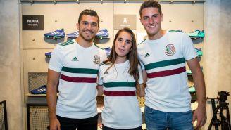 Martin, Cagigas y Giménez sonríen en la nueva tienda Adidas