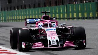 Checo recorre el circuito en el GP de Azerbaiyan