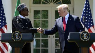 Trump, con el presidente de Nigeria en la Casa Blanca