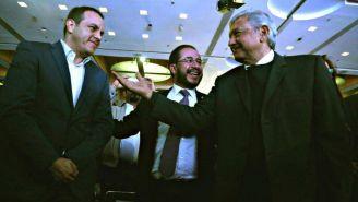 Blanco y Obrador en un acto político