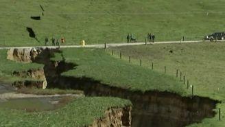 Así luce la grieta que se formó en Nueva Zelanda