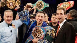 Gennady Golovkin celebra el triunfo frente a Vanes Martirosyan