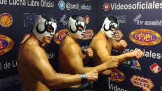 La Nueva Generación Dinamita previo a un evento de CMLL