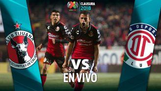 EN VIVO y EN DIRECTO: Xolos vs Toluca
