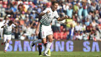 Julio Furch celebra anotación contra Querétaro