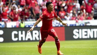Uribe festeja su gol contra Xolos en las Semifinales del C2018