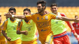 Sánchez celebra el segundo gol del partido