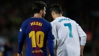 Messi y CR7, durante el Clásico español
