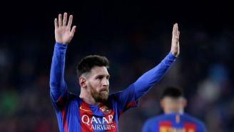 Lionel Messi durante un partido con el Barcelona