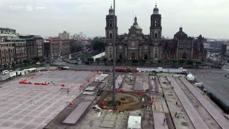 El zócalo de la Ciudad de México