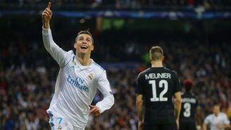 Cristiano Ronaldo celebra un gol con Real Madrid
