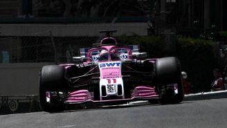 Checo recorre el circuito de Mónaco