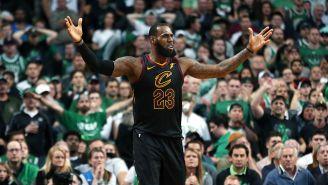 LeBron James, durante el juego 7 entre Cavs y Celtics