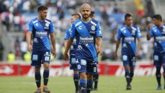 Francisco Acuña, duramte el juego entre Puebla y Lobos BUAP
