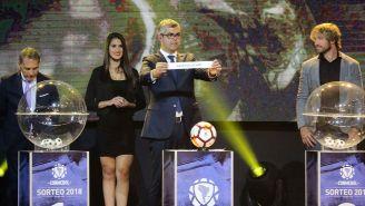 Acciones durante el sorteo de la Copa Libertadores