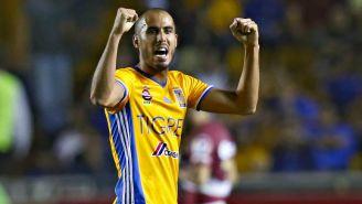 Pizarro celebra un gol de Tigres