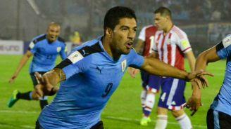 Suárez celebra anotación en Copa América