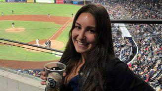 Gabby DiMarco, la aficionada que atrapó la pelota de béisbol