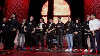 Los jugadores, al término del torneo invitacional de Smash Ultimate