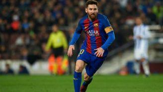 Messi durante partido de la Liga