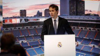 Lopetegui en su presentación con el Real Madrid