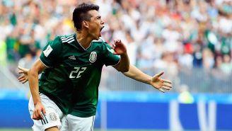 Chucky Lozano celebra su gol contra Alemania