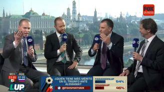 André Marín y Alberto García Aspe durante un emisión de Fox Sports