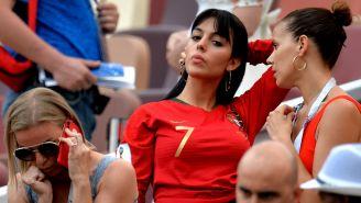 Georgina Rodríguez, durante el duelo entre Portugal y Marruecos