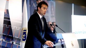 Lopetegui, durante su presentación oficial como DT del Real Madrid